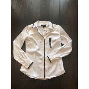 Banana Republic White Button Down Shirt